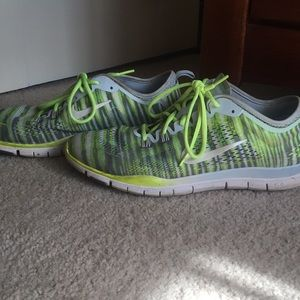 Nike Free Yellow and Grey shoes